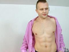 Euro hunk fucks a fake casting agent on camera