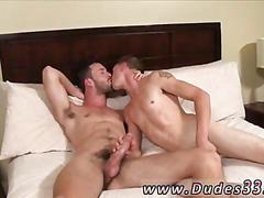 College twink sucks off a hard cock and bones in bed