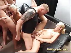 Wild group sex her first wild party with dicks