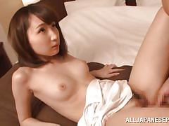 Japanese slut gets fucked hard and sucks cock