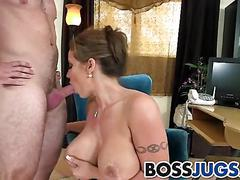 Sexy big boobs boss eva notty