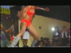 Dance contest in jamaica nip-slip