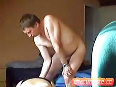Busty mature slut has a fat dick to fuck well