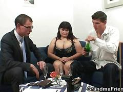 granny, hardcore, mature, milf, threesome, big tits, fucking, sucking, group, hairy