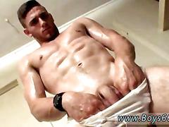 Hunk has a hot time as he jerks his cock