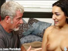 Jenna caught with step-bro then fucks step-dad