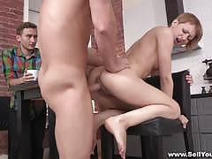 Sell your gf petite babe gets her pussy hammer...