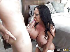 Busty sybil spreading legs for horny partner