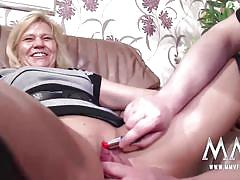 Creampie for mature german