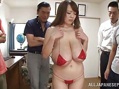 bikini, huge tits, brunette, asian group, boobs grope, nipple squeezing, japanese babe, big tits tokyo, all japanese pass, hitomi