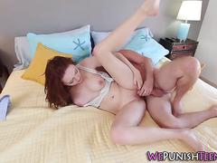 Teen choked while fucking