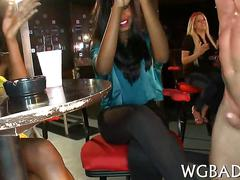 Amateur sluts are all excited to suck the stripper