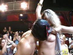 Stripper squirt cum all over cock sucking party sluts