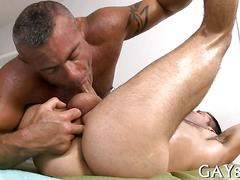 Massaging  hard dick massage hard 1