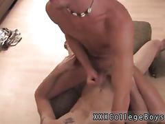 Amateur slut has a dick stuck in his ass