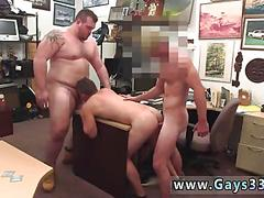 Threesome fucking the nasty dude who is a slut