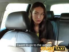 Faketaxi taxi driver fucks party girl on backseat