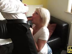 Pascals subsluts amateur blonde gets her pussy...