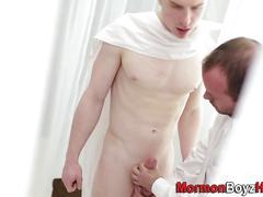 Uniformed mormon blows