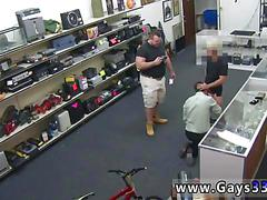 Thief caught and fucked by two pawn shop dudes