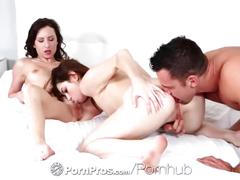 Pornpros - brunettes invite their man over for a little afternoon action