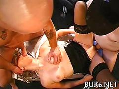 Cumming all over her face as a real slut