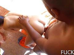 Having a very hot orgy and a hot fuck