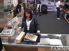 She came in and she got blasted by the pawn dude