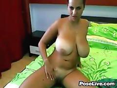 Busty cam slut teasing amateur film 1