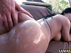 Curvaceous latina rose enjoys hardcore anal sex outdoors