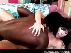 black, brunette, interracial, sucking