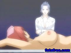 Big boobs hentai girl gets electric shock