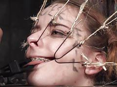 bondage, bdsm, torture, braces, blonde babe, restraints, real time, wires, real time bondage, jessica kay