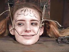 bondage, bdsm, torture, braces, blonde babe, restraints, real time, wires, real time bondage, jessica kay