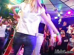 Sexy strippers make dreams cum true in the club