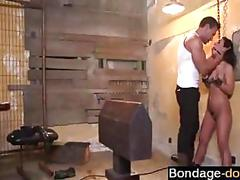 Bdsm session deep in her wet pussy feels great