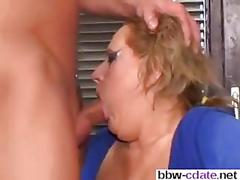Dirty blonde cougar gets fucked by a long haired guy