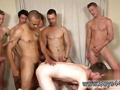 Sexy white guys gang bang with dorag wearing black thugs