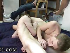 College twinks suck cock in 69 for a hazing