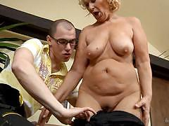 Dog house digital ramming a mature clit slit