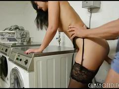 Hot german girlfriend taking care of her man