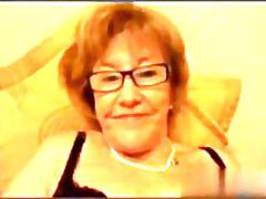 Raunchy granny shows off her big tits on webcam