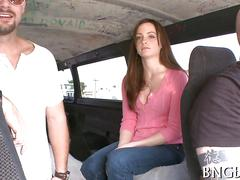 Amateur picked up for a pussy pounding in the bang bus