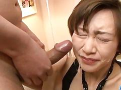 Akina hara amazes with serious blowjob scenes