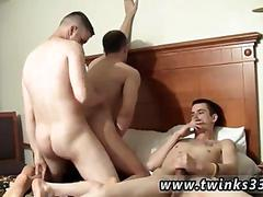 Three cigarettes smoking twinks start a threesome in bed
