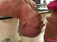 Huge juggs tranny danielle foxx fucked bald guy in his anus