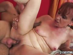 hardcore, mature, red head, small tits, 21sextreme, natural-tits, small-tits, fingering, ass-licking, one-on-one, granny, redhead, gilf, missionary, shaved, doggy-style, reverse-cowgirl
