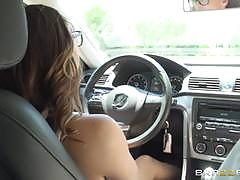 Driving student sara luvv fucks her driving in...