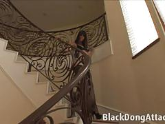 Bobbi starr bouncing on big black cock