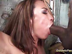 Amateur brunette gets her ass nailed